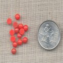 75 VINTAGE CORAL 5mm ROUND GLASS CABOCHONS